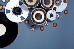 Audio Sound Media Objects Collection Set Stock Photography