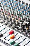 Audio sound mixer Royalty Free Stock Photos