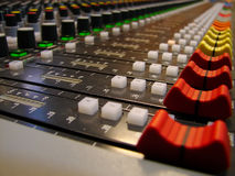 Audio sound mixer Royalty Free Stock Image