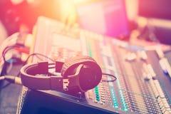 Free Audio Sound Mixer Adjusting Professional Sound Engineer Stock Photography - 104004062