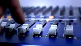 Audio sound mixer board stock video