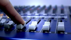 Audio sound mixer board Royalty Free Stock Photography