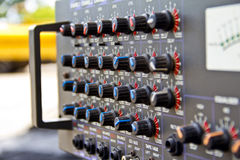 audio sound mixer with buttons Royalty Free Stock Images