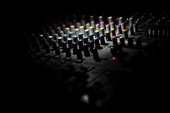 Audio sound mixer buttons detail Royalty Free Stock Images