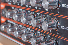 Audio Sound Mixer With Buttons Stock Photo
