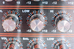 Audio Sound Mixer With Buttons Stock Photography