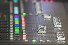 Audio sound mixer in concert Stock Images