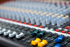 Audio Sound Mixer Stock Images