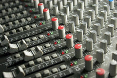 Audio Sound Mixing Board stock photo