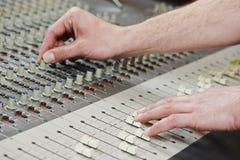 Audio sound mixing Royalty Free Stock Photos