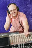 Audio sound mixing engineer royalty free stock photo
