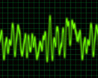 Audio or sound sine wave. Image of a glowing audio or sine wave Stock Photography