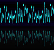 Audio or sound sine wave  Royalty Free Stock Photo