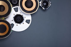 Audio Sound Speakers and Open Reel Objects Collection Royalty Free Stock Image