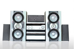 Audio sound system. Isolated of audio sound system Stock Photo