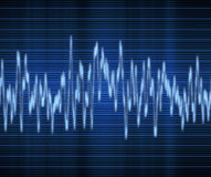 Audio or sound wave. Large excellent high tech audio sound wave Royalty Free Stock Images