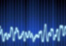 Audio or sound wave vector illustration