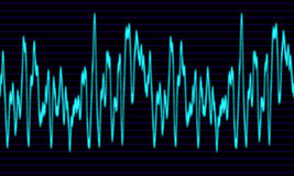 Audio or sound wave graph Stock Photos