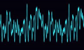 Audio or sound wave graph Stock Photos