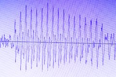 Audio sound wave studio editing Royalty Free Stock Photography
