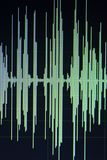 Audio sound wave studio editing Royalty Free Stock Images