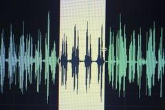 Audio sound wave studio editing Royalty Free Stock Image