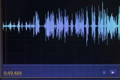 Audio sound wave studio editing Stock Image