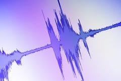 Audio sound wave studio editing stock photo