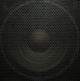 Audio speaker. Black concert audio speaker, closeup Royalty Free Stock Image