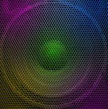 Audio speaker. Multicolored concert audio speaker, closeup Stock Photo
