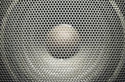 Audio speaker. Concert bright silver audio speaker Stock Image