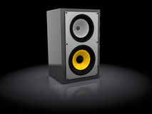 Audio speaker. 3d illustration of audio speaker over dark background Stock Photo