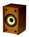 Audio Speaker. Audio, electronics, hi-fi, music, PC, sound, speaker Royalty Free Stock Photo