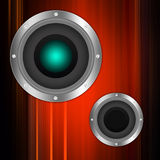 Audio speaker  on  abstract  background Royalty Free Stock Images