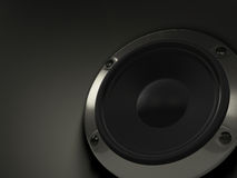 Audio speaker on black background. Good for music, multimedia, equipments and electronics concept Royalty Free Illustration