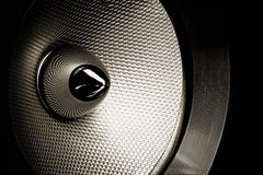 Audio speaker. Close-up studio shot with detailed texture. Internal part Royalty Free Stock Photos