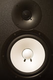 Audio Speaker Cone. Tweeter & Subwoofer Closeup Stock Images