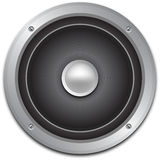 Audio speaker icon. Close up of illustrated audio speaker icon Royalty Free Stock Photography