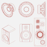 Audio speaker icon Stock Photos