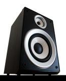 Audio speaker isolated. Two way black audio speaker isolated on white background stock image