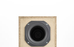 Audio speaker isolated on white Stock Photo