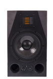 Audio speaker, isolated on white Royalty Free Stock Photo