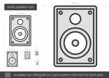 Audio speaker line icon. Royalty Free Stock Image