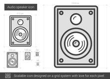 Audio speaker line icon. Stock Image