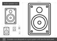 Audio speaker line icon. Stock Photography