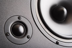 Audio speaker. The musical equipment Royalty Free Stock Image