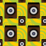 Audio speaker seamless background design Stock Photography