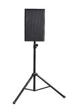 Audio speaker. Audio speaker is on the stand on white, work with path Stock Photo