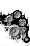 Audio speakers. Design music audio mp3 speakers Stock Image
