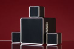 Audio speakers Stock Photo